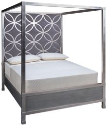 Accentrics Home City Chic King Silverleaf Canopy Bed