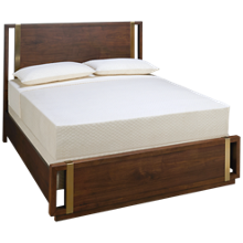 Accentrics Home Urban Eclectic Queen Metal Strap Wood Bed