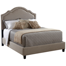 Accentrics Home Queen Upholstered Bed with Nailheads
