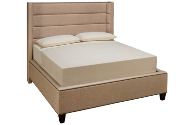 Accentrics Home Tru Modern Queen Upholstered Channel Wing Bed