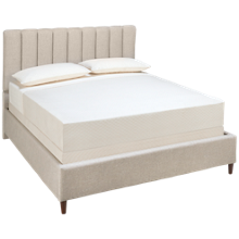 Accentrics Home Urban Eclectic Queen Vertical Channel Tufted Bed