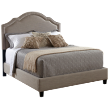 Accentrics Home King Upholstered Bed with Nailheads