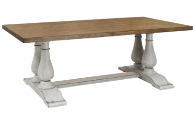 Accentrics Home Modern Authentics Pedestal Dining Table