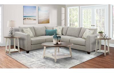 Quartz 4 Piece Living Room Set Includes: Sectional,