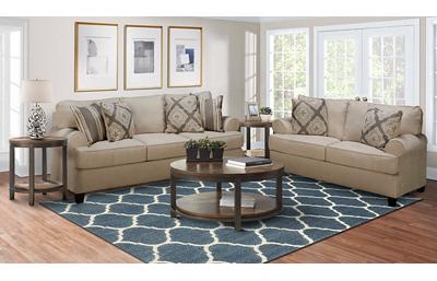 Cayman 5 Piece Living Room Set Includes: Sofa,