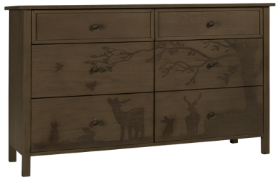 ED Ellen DeGeneres by Bivona Forest Animals 6 Drawer Dresser
