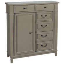Folio 21 Furniture Stone Bay 1 Door 6 Drawer Kids Chest