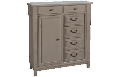 Folio 21 Furniture Stone Bay 1 Door 6 Drawer Kids Chest