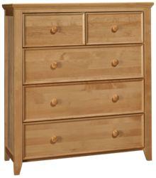Maxwood Furniture Boston 2 Over 3 Drawer Dresser