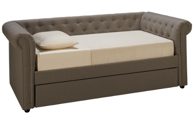 Crown Mark Ellie Daybed with Trundle and Nailhead