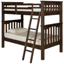 NE Kids Highlands Twin Over Twin Bunk Bed with Ladder