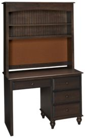 Oak Designs Surf City 4 Drawer Desk with Hutch