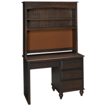Oak Designs Surf City 4 Drawer Desk with Hutch
