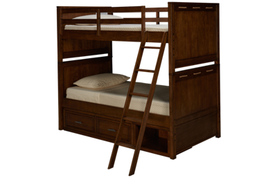 Legacy Classic Lake House Twin Over Twin Bunk Bed with Underbed Storage
