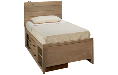 Universal #myRoom Twin Reading Panel Bed with Storage Unit