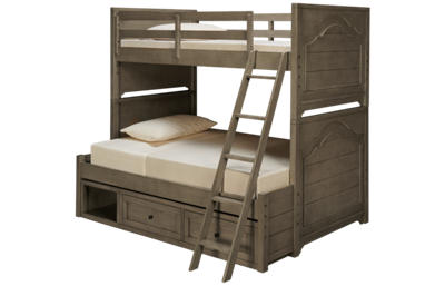 Legacy Classic Farm House Twin over Full Bunk Bed with Underbed Storage