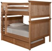 Maxwood Furniture Boston Full Over Full Bunk Bed with Trundle
