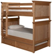 Maxwood Furniture Boston Twin Over Twin Bunk Bed with Trundle