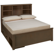NE Kids Highlands Full Bookcase Bed with Storage