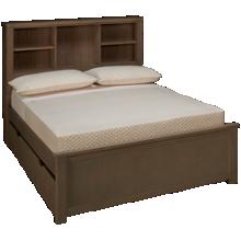 NE Kids Highlands Full Bookcase Bed with Trundle