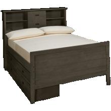Oak Furniture West Owen Full Bookcase Bed with 4 Drawer Storage