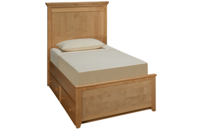 Maxwood Furniture Boston Twin Plank Bed with Trundle