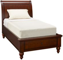 Aspen Cambridge Twin Sleigh Platform Bed with Storage