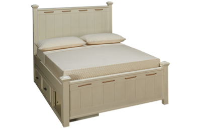 Legacy Classic Lake House Full Low Post Bed with Storage