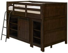 Liberty Furniture Thornwood Hills Twin Loft Bed with Bookcase and Storage