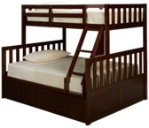 United Mission Hill Twin over Full Bunk Bed with Storage