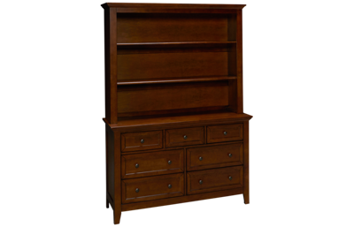 Intercon San Mateo Dresser and Hutch Bookcase