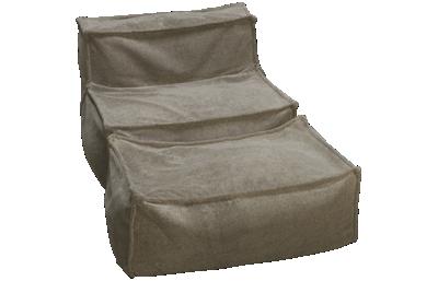 Legacy Classic Crash Pad Armless Chair and Ottoman