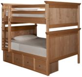 Maxwood Furniture Boston Full Over Full Bunk Bed with Storage