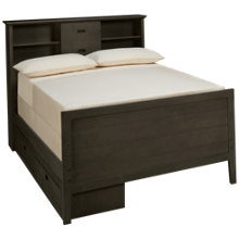 Oak Furniture West Owen Full Bookcase Bed with 2 Drawer Storage