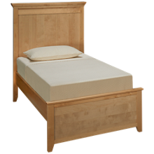Maxwood Furniture Boston Twin Plank Bed