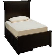 Maxwood Furniture Boston Twin Plank Bed with 2 Storage Drawers