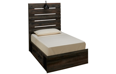 Ashley Drystan Twin Panel Bed with Storage Drawers