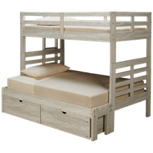 Flotation Innovations Nate Twin over Full Bunk Bed with Ladder and Underbed Storage Chest