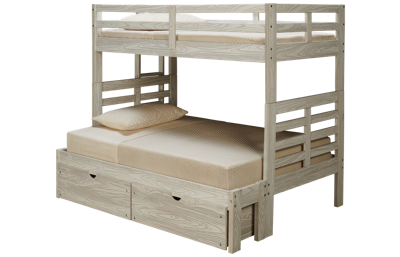 Innovations Nate Twin over Full Bunk Bed with Ladder and Underbed Storage