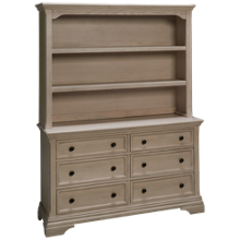 Westwood Designs Olivia 6 Drawer Dresser with Hutch Bookcase