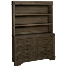 Westwood Designs Foundry 6 Drawer Dresser with Hutch Bookcase