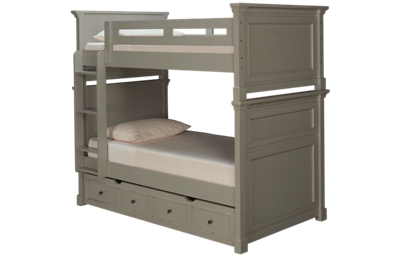 Folio 21 Furniture Stone Bay Kids Twin Bunk Beds with Trundle