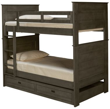 Oak Furniture West Owen Oak Furniture West Owen Twin Over Twin Bunk Bed With Storage Trundle Jordan S Furniture