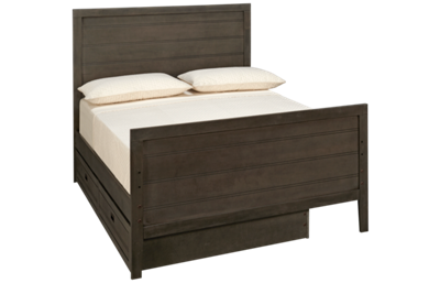 Oak Furniture West Owen Full Panel Bed with Storage Trundle