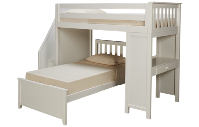 Maxwood Furniture Chester Twin Loft Beds with Desk