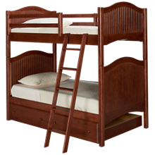 Oak Designs Surf City Twin over Twin Trundle Bunk Beds