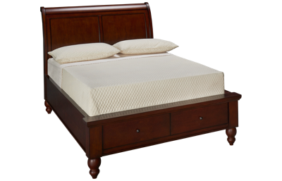 Aspen Cambridge Full Sleigh Storage Platform Bed