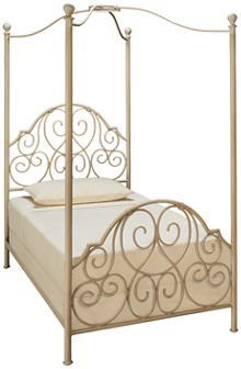 Magnolia Home Twin Garden Gate Canopy Bed