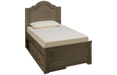 Legacy Classic Farm House Twin Panel Bed with Underbed Storage