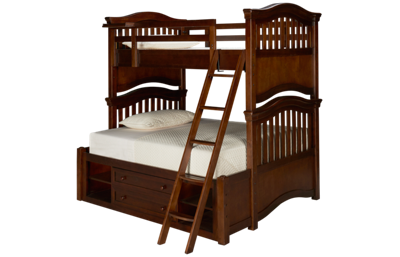 Universal Classics 4.0 Twin Over Full Bunk Bed with Storage